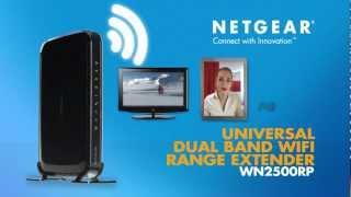 netgear n600 wifi range extender wn2500rp product tour