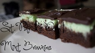 St. Patrick's Day | Mint Brownies