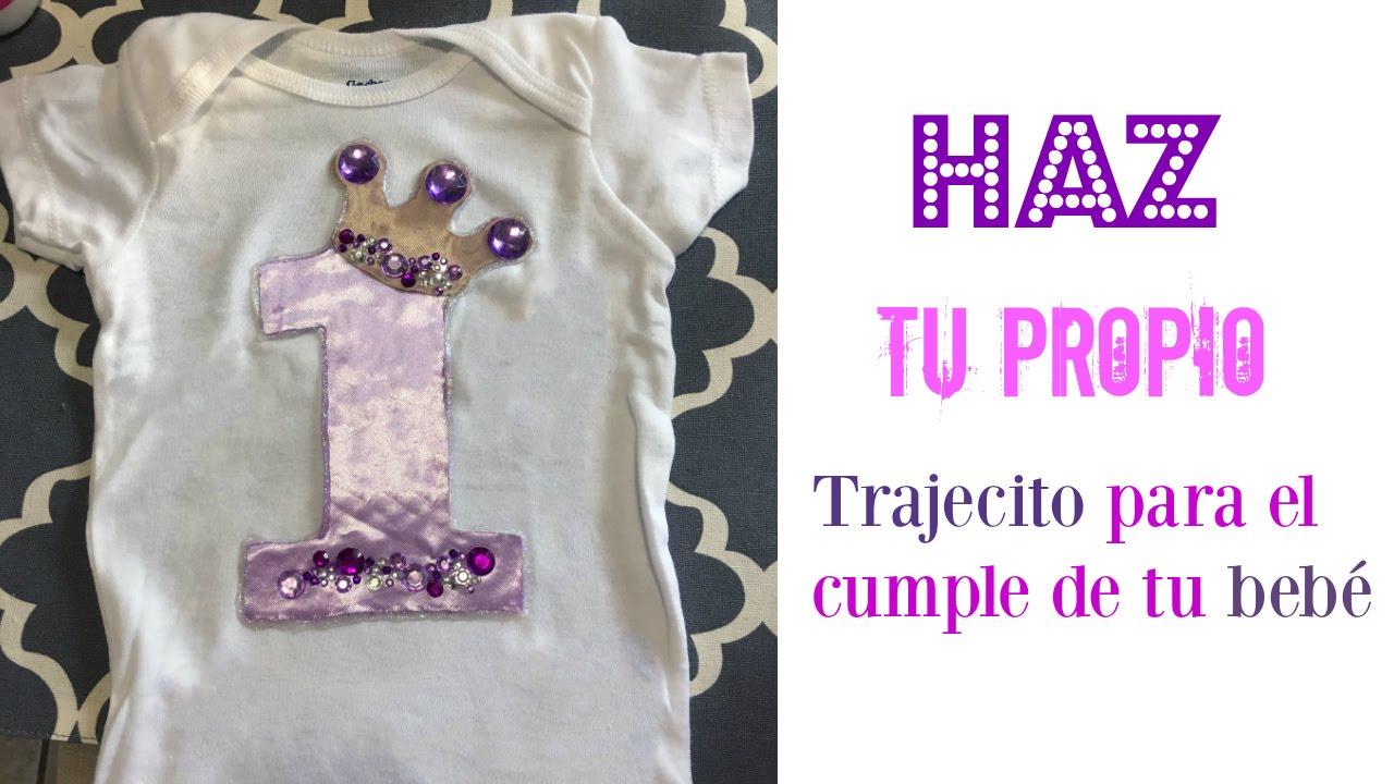DIY: Como hacer una blusita para el cumple de tu bebé! - YouTube