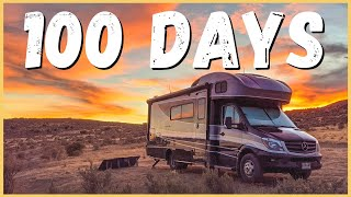 100 Days of FŔEE Camping In A Row! What's it like RV Boondocking? | Newstates in the States