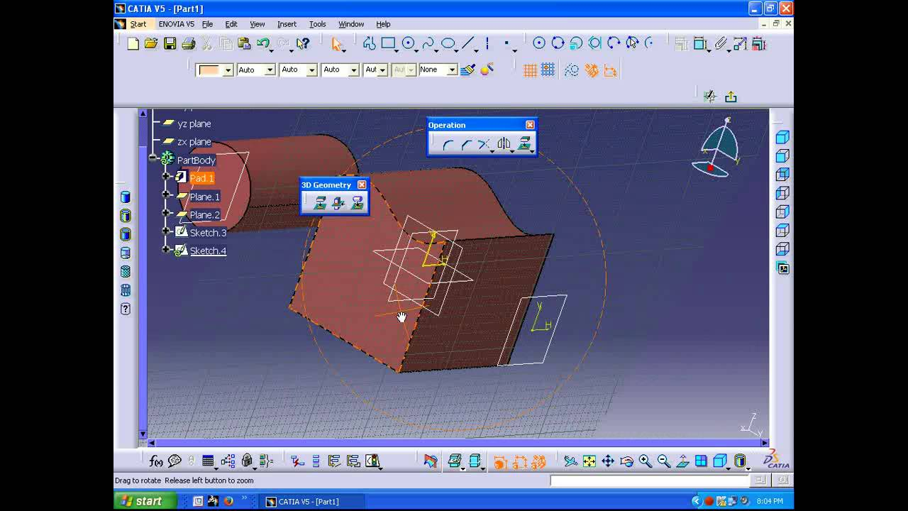 Projection In CATIA YouTube