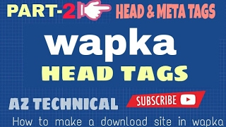[Bangla]wapka tutorial  | How to make A download site  in Android[part-2]