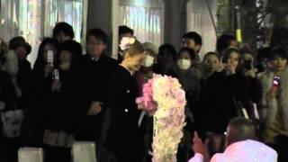 2012/12/24 宝塚雪組東京公演JIN千秋楽 舞羽美海さんの出待ちです。