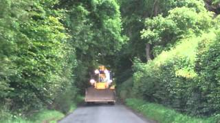 Ditch Cleaning Machine Narrow Road Scotland
