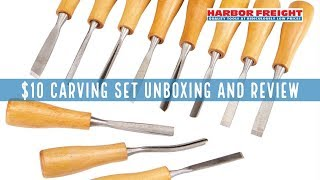 Harbor Freight Carving Chisel Set Unboxing and Review
