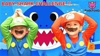 #BabySharkChallenge , Super Mario Brothers' PINKFONG Baby Shark Dance