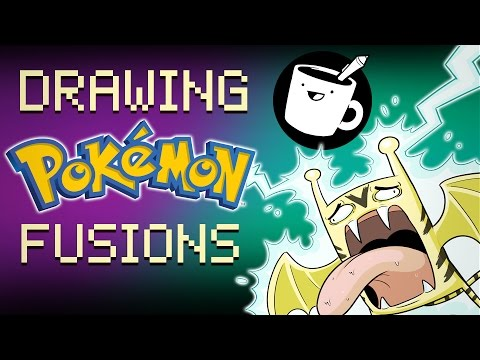 Three Artists Try Drawing Pokémon Fusions