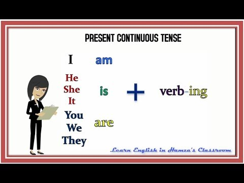 Present Continuous Tense - 01 - Affirmative (Positive) Sentences - English Grammar Lessons