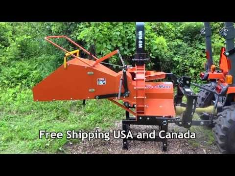 "2014 WoodMaxx WM-8M Mechanical Auto Feed 8"" PTO wood chipper Walk Around"