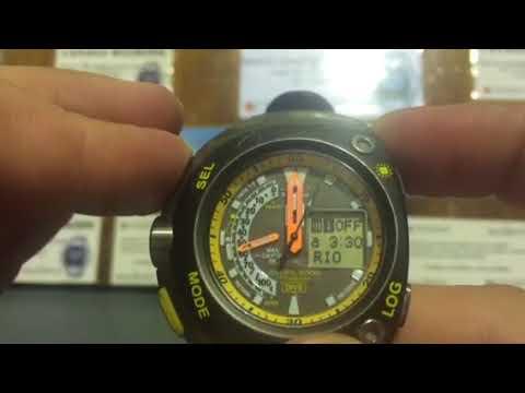 65bce4baee Canalli Relógios   Citizen aqualand meia lua - YouTube