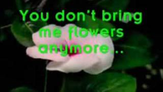 You don't bring me flowers - karaoke duet - male part only - you be Barbara