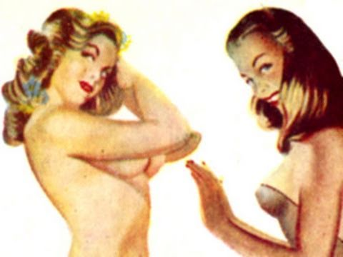1950's 1940's Pin-up Girls Art Vintage Erotica Risque Glamour Fashion Hairstyle Cigarette Cards