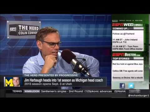 Jim Harbaugh Interview Gets so Painfully Awkward Colin Cowherd Abruptly Ends It Surprise