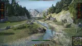 World Of Tanks M8A1 slides downhill on death