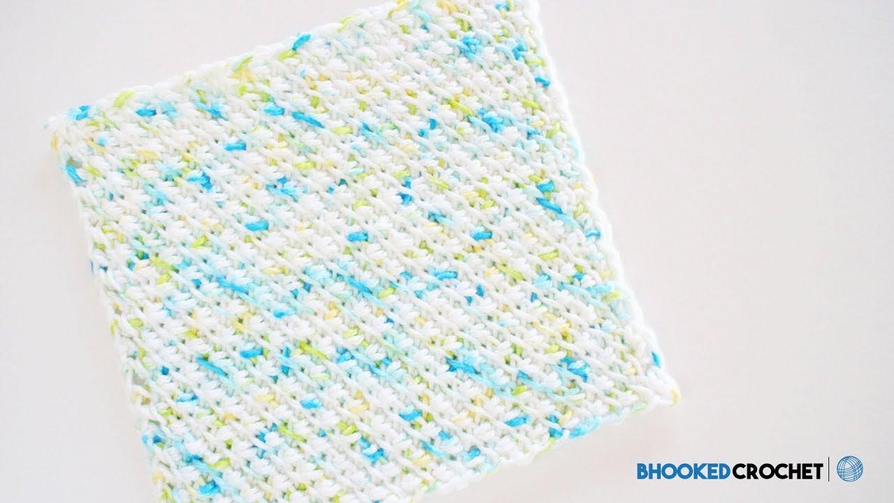 Tunisian Crochet Washcloth Series: Pattern One - YouTube