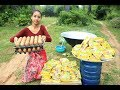 100 Maggi Noodles | Yummy Maggi Noodles cooking in my village | village food factory