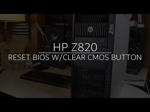 HP Z820 | CLEAR CMOS BUTTON TO RESET BIOS (FIX BOOT ERROR)