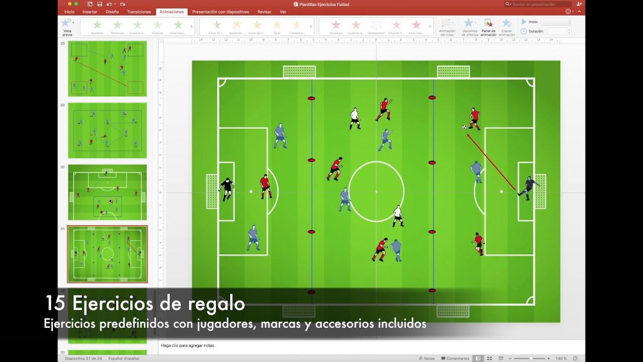 Plantilla Powerpoint Diseño Ejercicios Fútbol