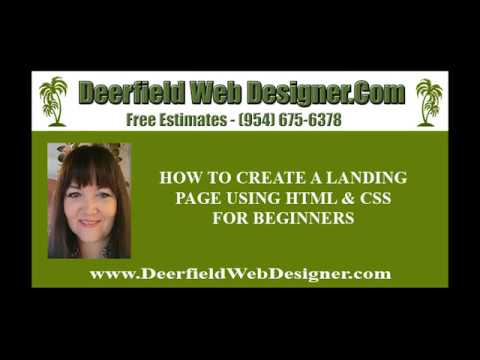 DIY Websites - How To Create A Landing Page With Html And Css