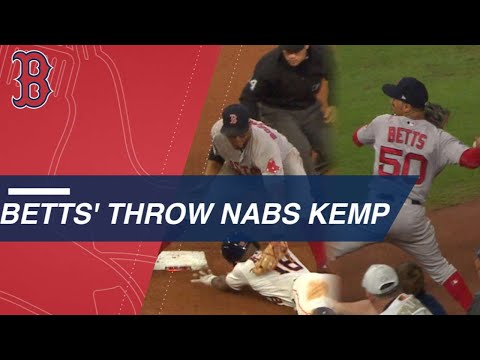 ALCS Game 4: Andrew Benintendi's incredible catch caps Red Sox 8-6 win over Astros