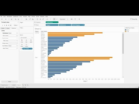 How to Highlight the Top 3 Bar Chart Values in Tableau