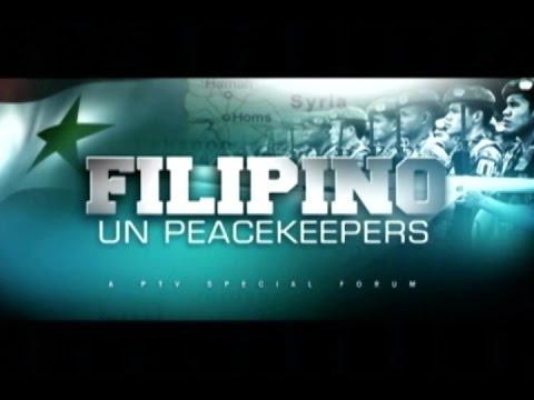 (Part 1/3) FILIPINO UN PEACEKEEPERS - PTV Special Forum - [September 10, 2014]