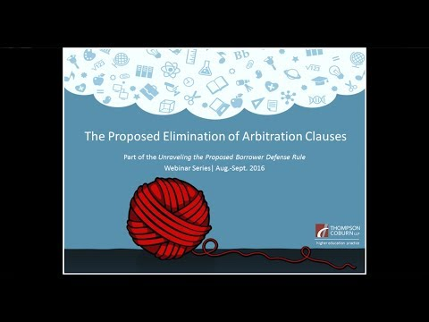 Proposed Elimination of Arbitration Clauses
