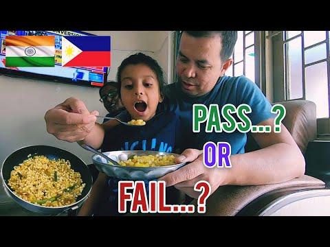 FILIPINO MARRIED TO INDIAN WOMAN. Shama cook first time Sabudana Khichdi  dish. Pass of fail???