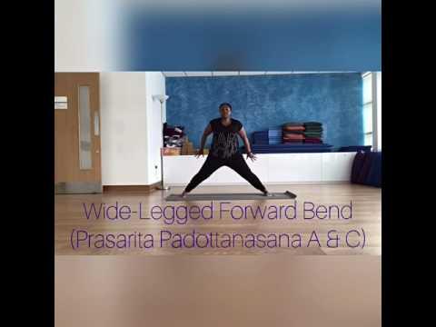 yoga basics  widelegged forward bend prasarita