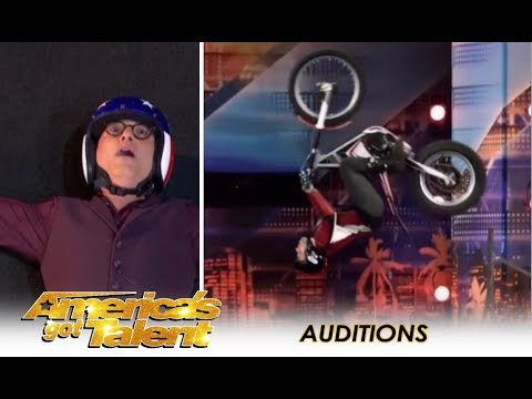 Kenny Thomas: The GREATEST Extreme Motorcycle Trial Rider! | America's Got Talent 2018
