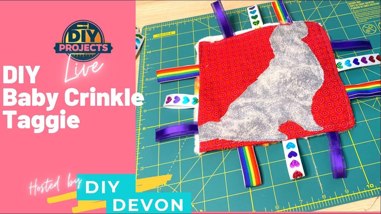 DIY Crinkle Taggie Baby Blanket | Custom Baby Shower Gift | Cricut | Dog Baby Blanket