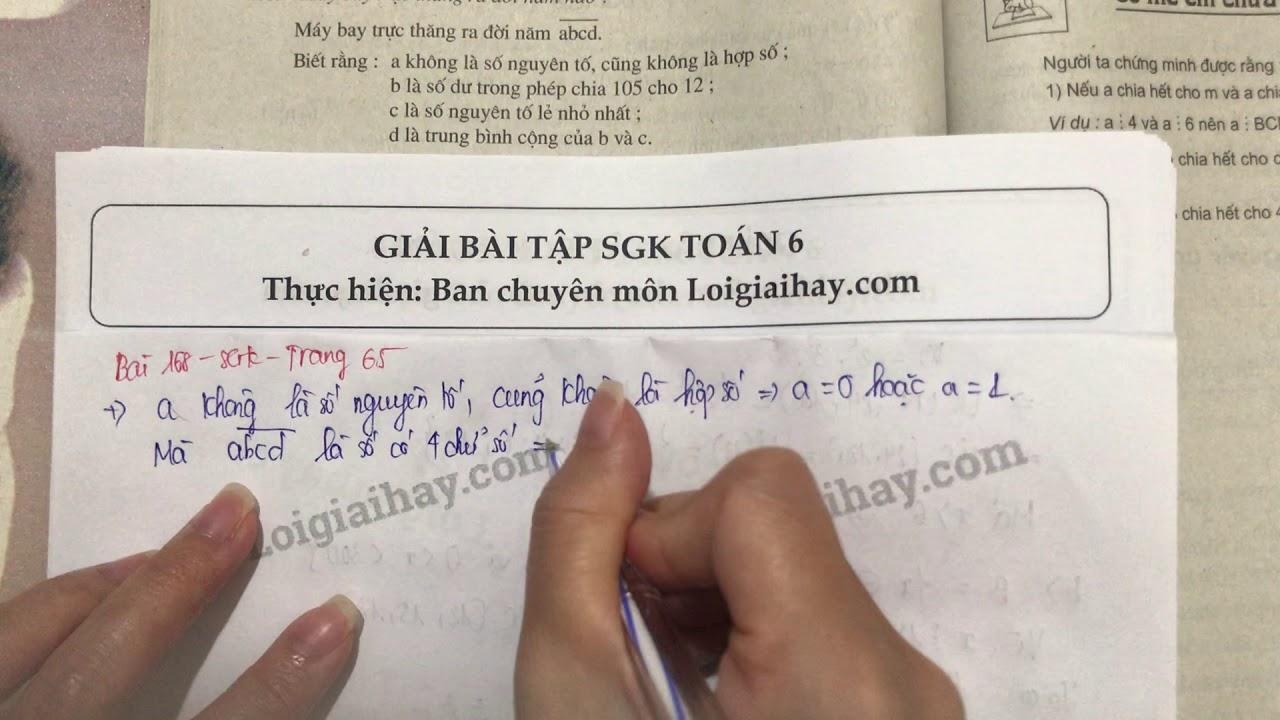 Giải bài 168 trang 64 SGK toán 6 tập 1