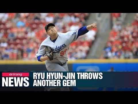 Ryu Hyun-jin throws 7 scoreless innings against Cincinnati Reds for his 6th win
