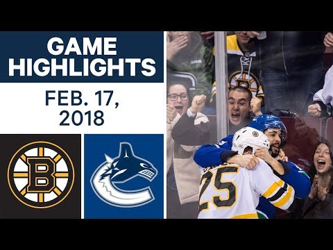 NHL Game Highlights | Bruins vs. Canucks - Feb. 17, 2018