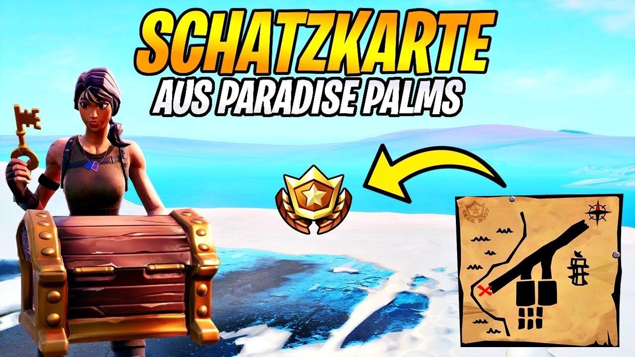 Folge Dem Schatzkartenwegweiser Aus Paradise Palms