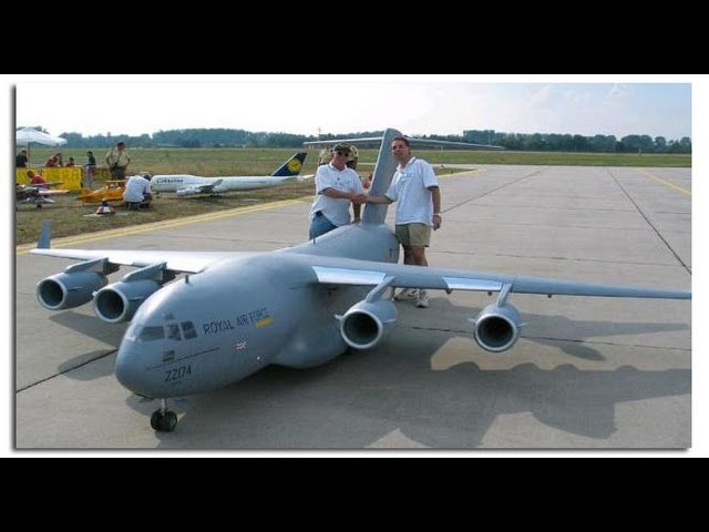 Biggest rc airplane in the world C-17 Travel Video