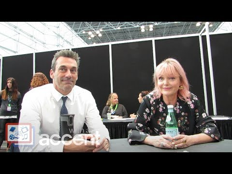 NYCC 2018: Good Omens  Jon Hamm & Miranda Richardson