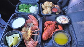 Eating a RED LOBSTER FEAST