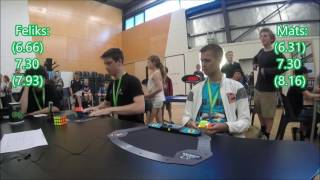 Feliks Zemdegs (6.97) vs Mats Valk (6.83) - POPS 3x3 final showdown