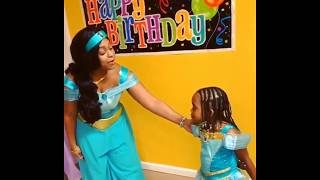 Princess Jasmine sings for a birthday party in NYC