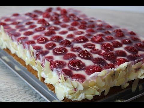 Безумно вкусный торт с малиной