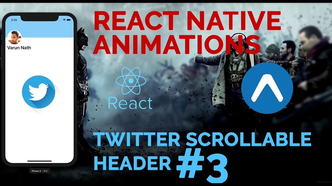 #3 Twitter Scrollable Header Animation | React Native Animations