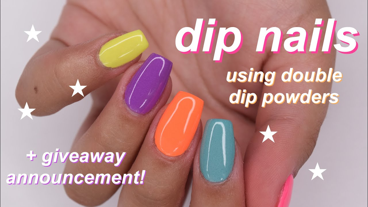 double dip neon nails + giveaway announcement!