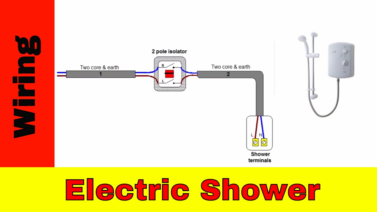 Wiring Diagram For A Shower Rcd : How to wire an electric shower uk youtube