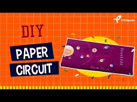 How to Make a Paper Circuit for Solar System   DIY Projects
