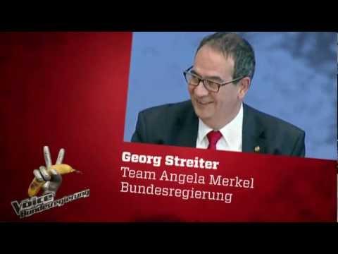 """""""The Voice of Bundesregierung"""" - Kandidat Georg Streiter, vom Team Angela Merkel"""