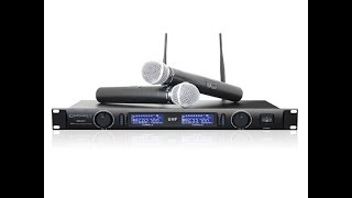technical pro wm1201 professional uhf dual wireless microphone system