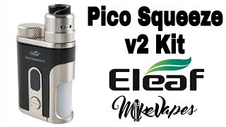 EleaF Pico Squeeze 2 Squonk - Coral v2 rda - Build & Wick - Mike Vapes