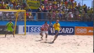 Brasil 12 x 2 Paraguai - FINAL Copa Sul-Americana Futebol Areia 2015