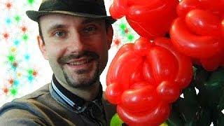Роза из шариков шдм аэродизайн ★ rose from balloons(Здесь я подробно показываю как сделать розу из шариков шдм. Наши видео уроки помогают изучать аэродизайн,..., 2014-03-25T09:15:10.000Z)